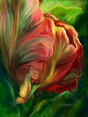 Mixed Media - Tulips - Colors Of Paradise by Carol Cavalaris