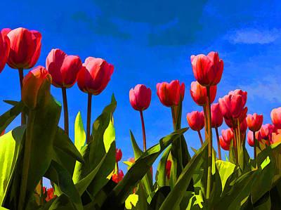 Vintage College Subway Signs Color - Tulips by David Gleeson