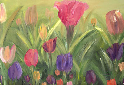 Painting - Tulips by Donna Blackhall
