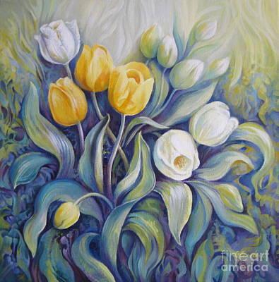 Tulips Art Print by Elena Oleniuc