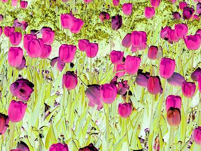 Photograph - Tulips - Field With Love - Photopower 1961 by Pamela Critchlow