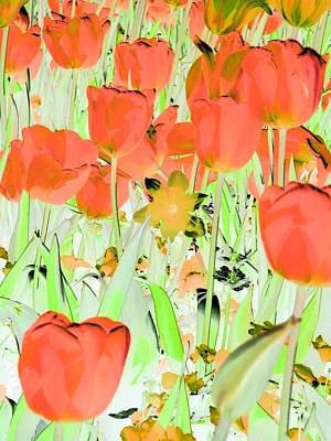 Photograph - Tulips - Field With Love - Photopower 1977 by Pamela Critchlow