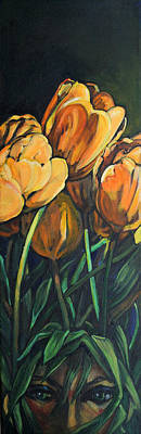 Painting - Tulips Flower Child by Christine Montague