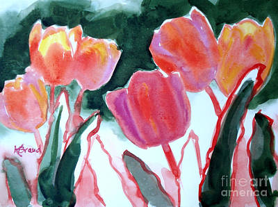 Painting - Tulips For The Love Of Patches by Kathy Braud