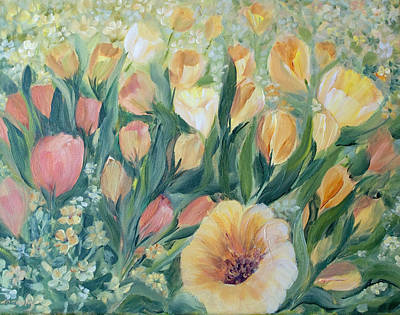 Spring Bulbs Painting - Tulips I by Joanne Smoley