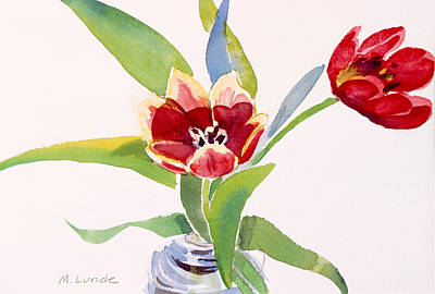 Painting - Tulips In A Can by Mark Lunde