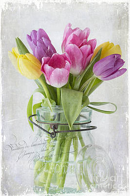 Tulips In A Jar Art Print