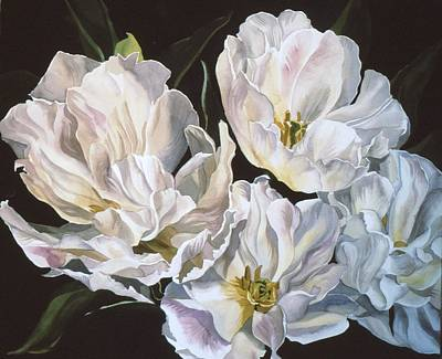 Tulips In Spring Art Print by Alfred Ng
