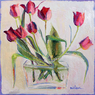 Wall Art - Painting - Tulips In Yellow by Leslie Rock