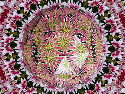 Photograph - Tulips Kaleidoscope Under Polyhedron Glass by Rose Santuci-Sofranko