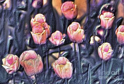 Digital Art - Tulips by Leo Symon