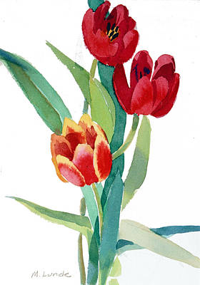 Painting - Tulips by Mark Lunde