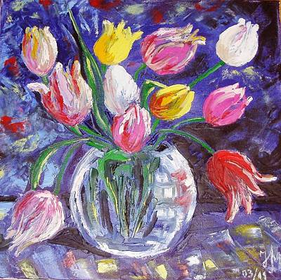 Painting - Tulips by Nina Mitkova