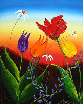 Tulips Of Woodburn Oregon Art Print by Portland Art Creations