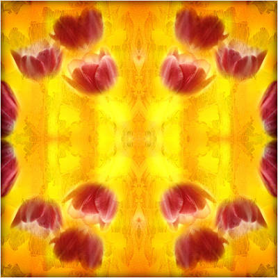 Tulips On Fire Art Print by Don Powers