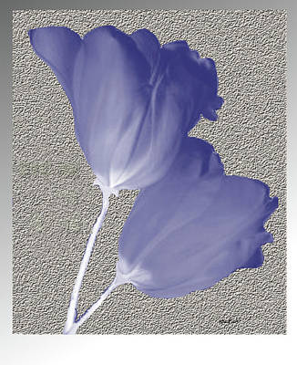 Art Print featuring the digital art Tulips On Stone by Asok Mukhopadhyay