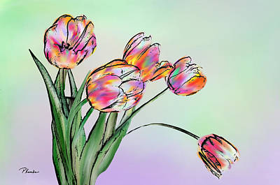 Digital Art - Tulips by Patricia Kemke