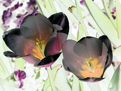Photograph - Tulips - Perfect Love - Photopower 2064 by Pamela Critchlow