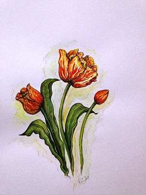Painting - Tulips by Rae Chichilnitsky