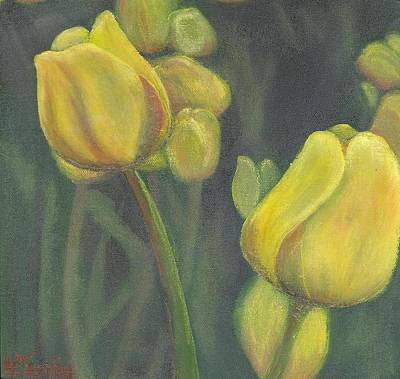 'tulips Stand' Art Print