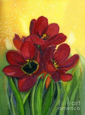 Tulips Art Print by Teresa Boston