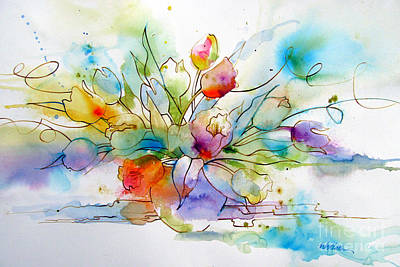 Drips Painting - Tulips Two by Wendy Westlake
