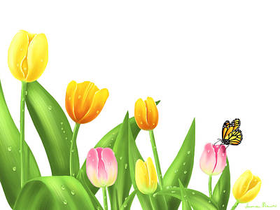 Tulips Print by Veronica Minozzi