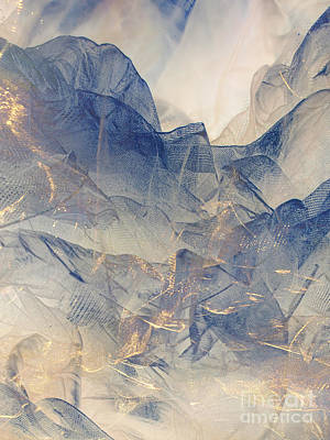Tulle Mountains Art Print by Klara Acel