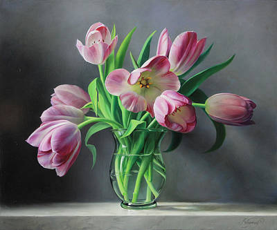 Painting - Tullips From Holland by Pieter Wagemans