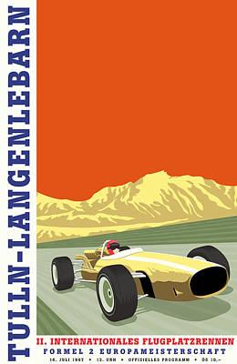 Tulln Langenlebarn Formula 2 1967 Art Print by Georgia Fowler