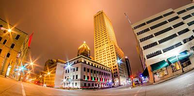 Photograph - Tulsa City Skyline Seen At Night by Alex Grichenko