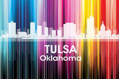 Tulsa Oklahoma. Architecture Mixed Media - Tulsa Ok 2 by Angelina Vick