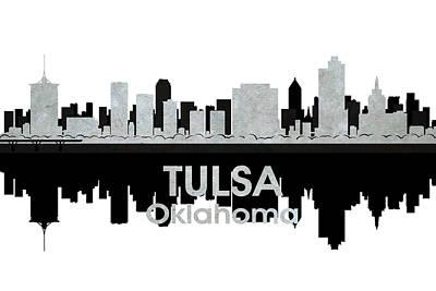 Tulsa Oklahoma. Architecture Mixed Media - Tulsa Ok 4 by Angelina Vick
