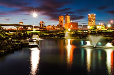 Photograph - Tulsa Oklahoma City Lights by Gregory Ballos