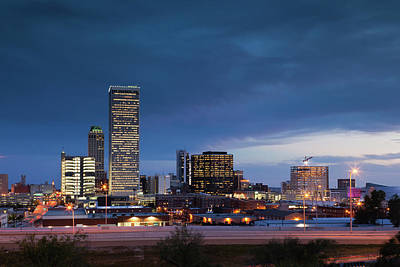 Skyscraper Photograph - Tulsa, Oklahoma, City View by Walter Bibikow