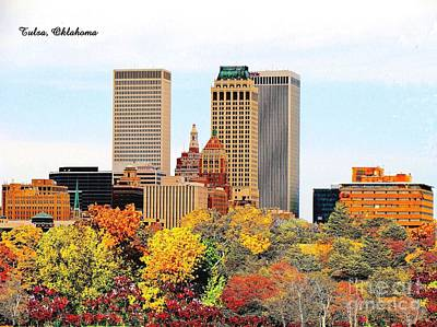 Photograph - Tulsa Oklahoma In Autumn by Janette Boyd