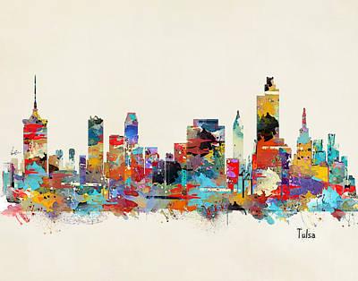 Bri Buckley Digital Art - Tulsa Oklahoma Skyline by Bri B
