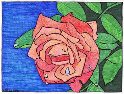Tulsa Rose Art Print