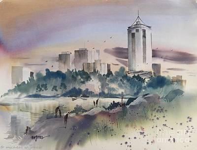Tulsa Skyline Art Print by Micheal Jones
