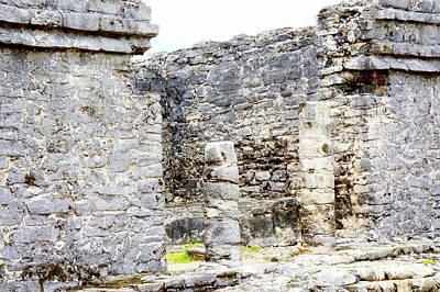 Photograph - Tulum Ruins 1 by Rachel Munoz Striggow