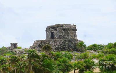 Photograph - Tulum Ruins 2 by Rachel Munoz Striggow
