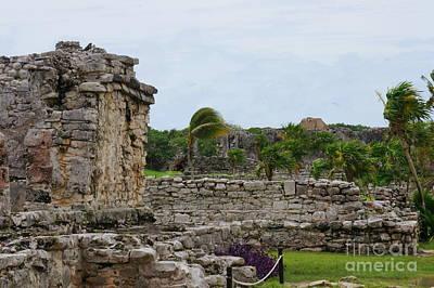 Photograph - Tulum Ruins 3 by Rachel Munoz Striggow