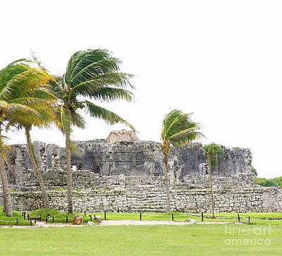 Photograph - Tulum Ruins 9 by Rachel Munoz Striggow