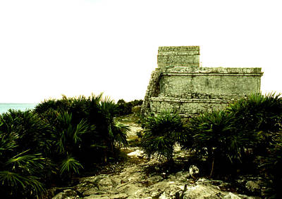 Photograph - Tulum - The Temple by Robert  Rodvik