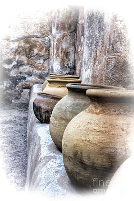 Digital Art - Tumacacori Grainery Pots Color by Georgianne Giese