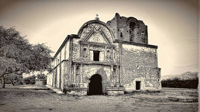 Art Print featuring the photograph Tumacacori  Mission ... by Chuck Caramella