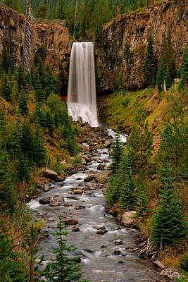 Photograph - Tumalo Falls by Daniel Woodrum