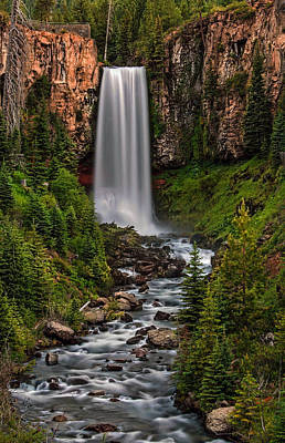 Photograph - Tumalo Falls by Pamela Winders