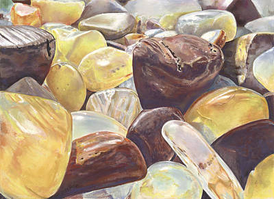 Painting - Tumbled Agates by Nick Payne