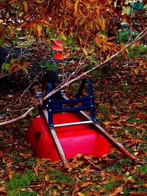 Tumbled Wheelbarrow  Original by ARTography by Pamela Smale Williams